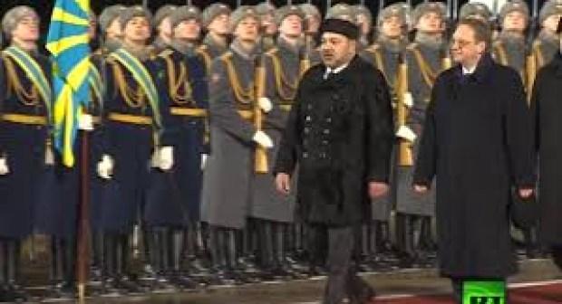مراسيم وصول صاحب الجلالة محمد السادس الى روسيا