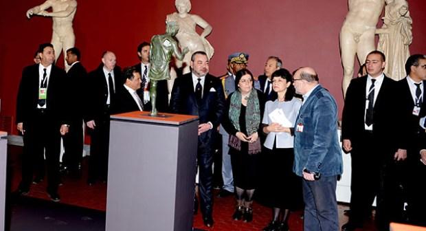 SM le Roi inaugure à Moscou l'exposition « Maroc-Russie, Une histoire antique partagée