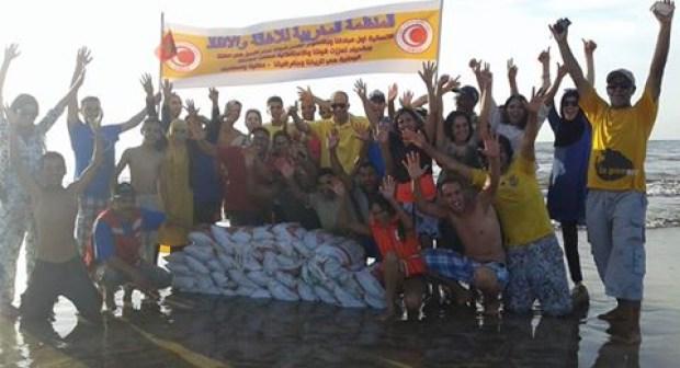 اختتام المخيم التكويني للمنظمة المغربي للاغاثة والانقاذ