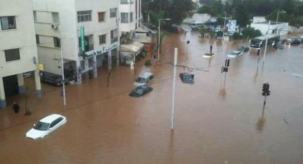 فيديو: سيول وأمطار طوفانية تجتاح مدينة سلا