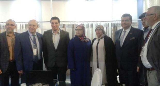 سفيرتركيا ونائبة العمدة حكيمة فصلي يفتتحان الدورة الثالثة للمعرض الدولي للنسيج