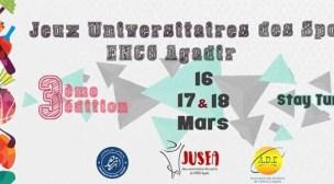 البيان الصحفي للألعاب الجامعية الرياضية للمدرسة الوطنية للتجارة والتسيير لمدينة أكادير