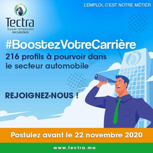 Boostez votre Carrière avec Tectra: 216 Postes à Pourvoir dans le Secteur Automobile