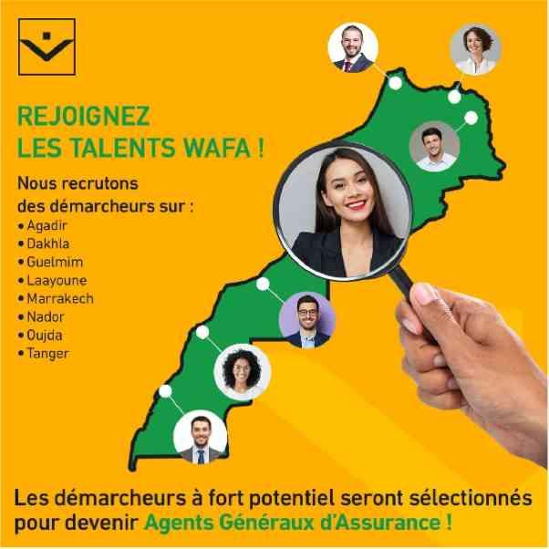 Wafa Assurance recrute des Démarcheurs sur Plusieurs Villes