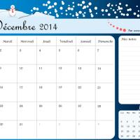 Organisateur du mois : Calendrier Decembre 2014