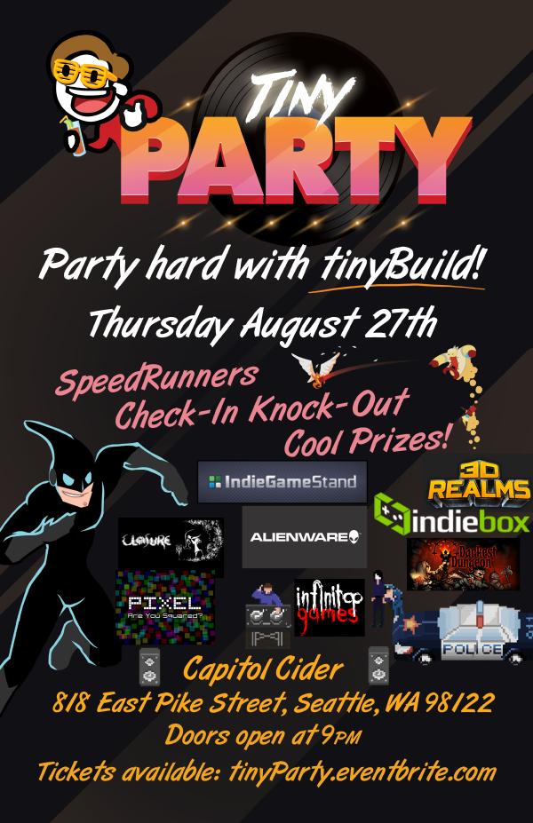 TinyBuild Party PAX Prime