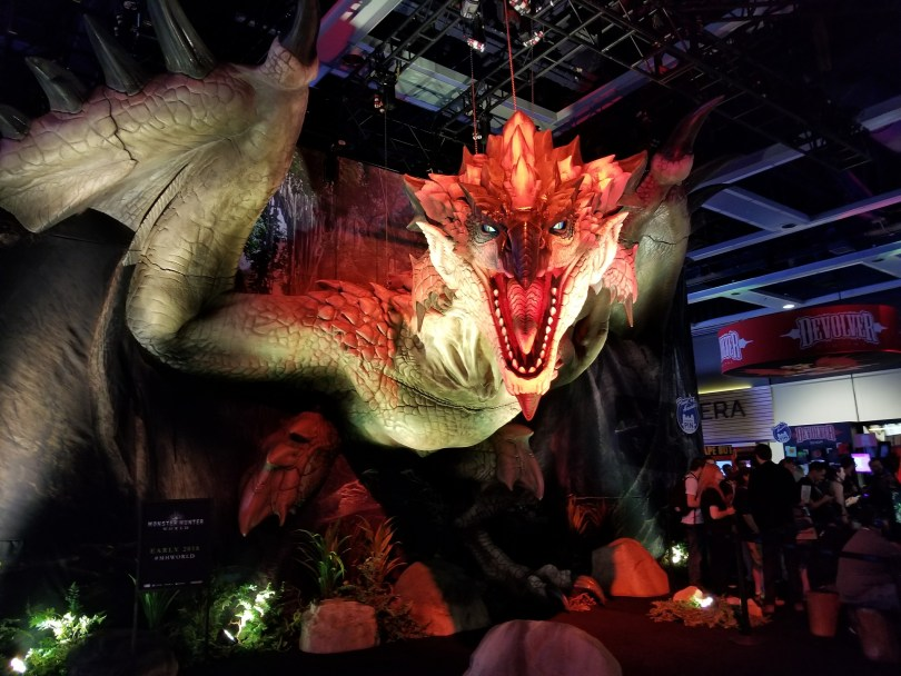 monster hunter world pax west booth