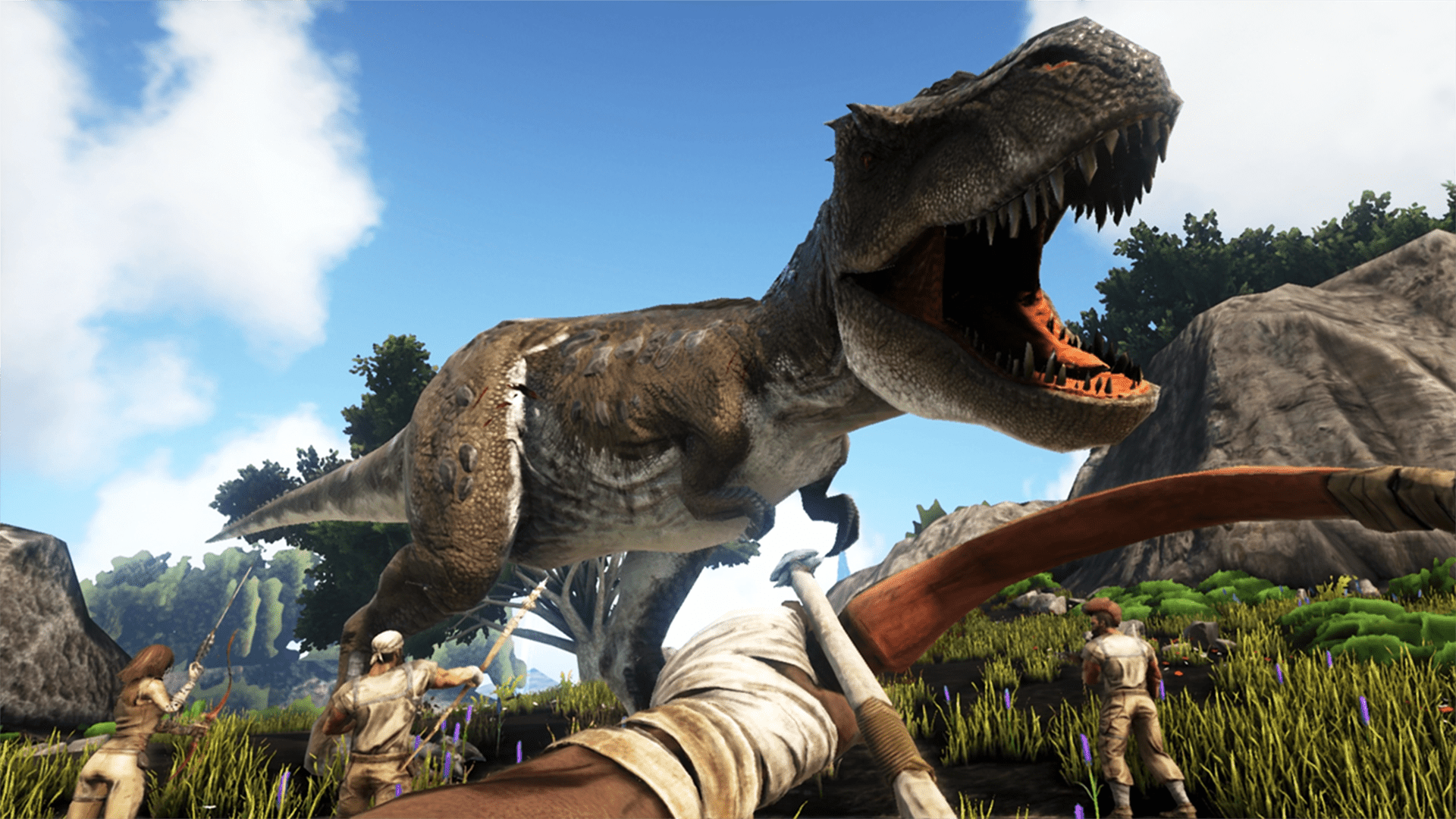 ark survival evolved switch t rex marooners rock