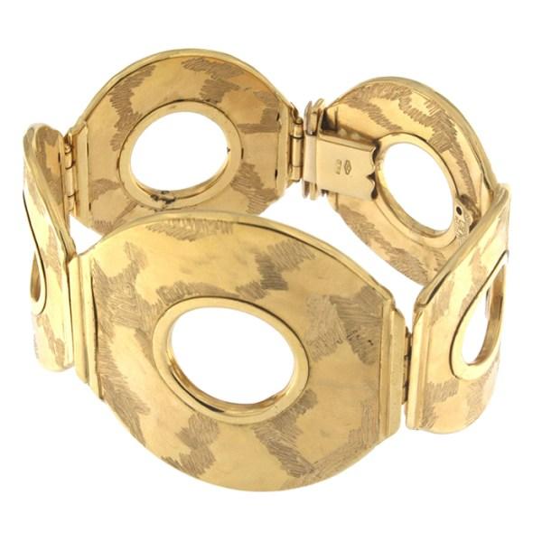 Rigid bracelet in yellow gold