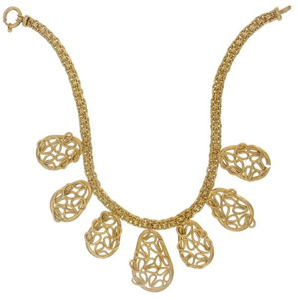 Necklace in yellow gold