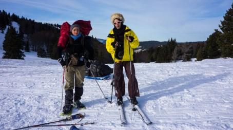 Skiquette, au choix, skis ou raquettes !