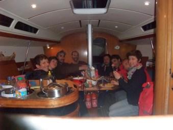 Nuit à Sauzon après une mini nav pour rejoindre les terriens à quai (gulp!)