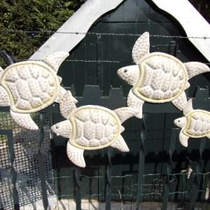 Muurdecoratie schildpadden metaal 100 cm-0