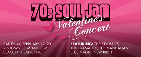 The 70s Soul Jam Valentines Concert Marquee Concerts