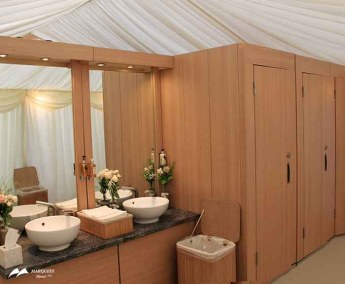 Image of indoor flexi loo for marquee