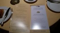 Diningroom menu