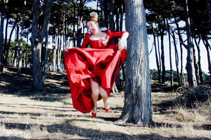robe reine de coeur diy couture