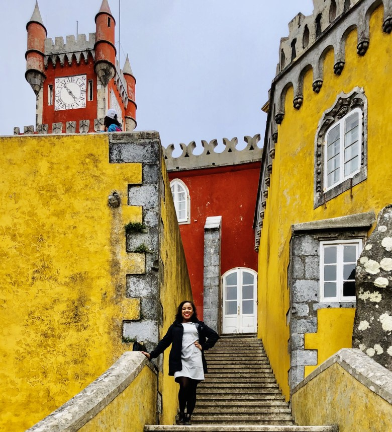 Sintra Portugal Solo Trip: Pena Palace  Stairs