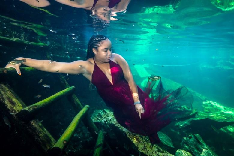 Solo Mom Vacation, Tulum Underwater Photoshoot