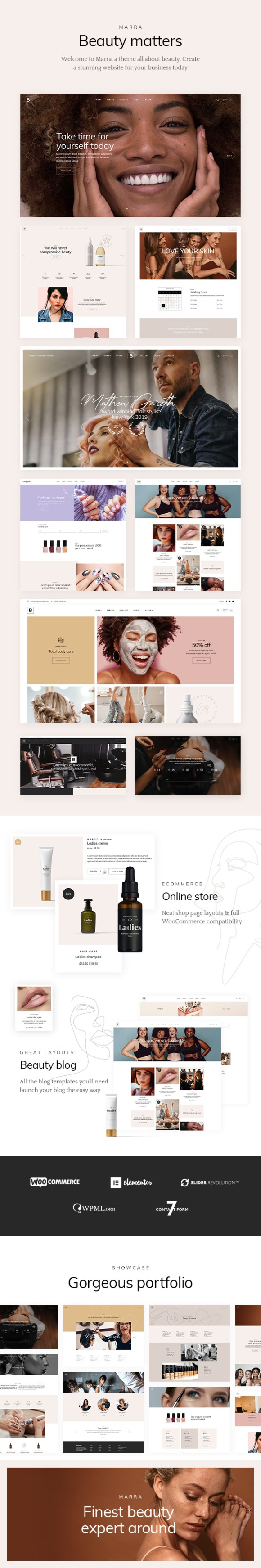 Marra - Beauty WordPress Theme - 1