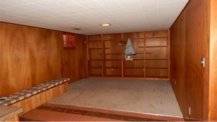 Before view of the bookshelf.