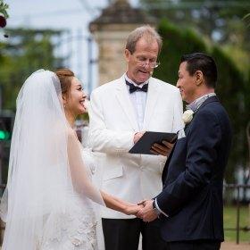 Asian garden wedding