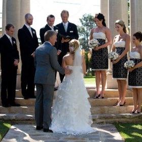 Formal garden wedding