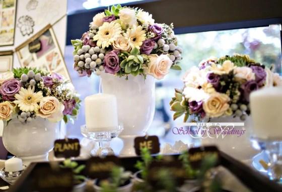 Cream & Purple wedding