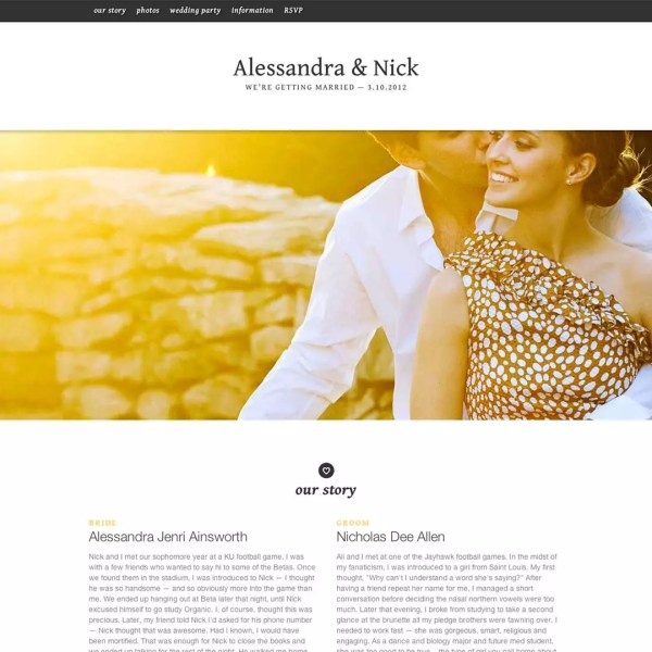 HOW TO CREATE A PERFECT WEDDING WEBSITE