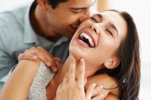 Happy Couple Embracing love