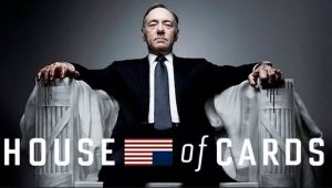 Kevin Spacey as Francis Underwood in House of Cards.