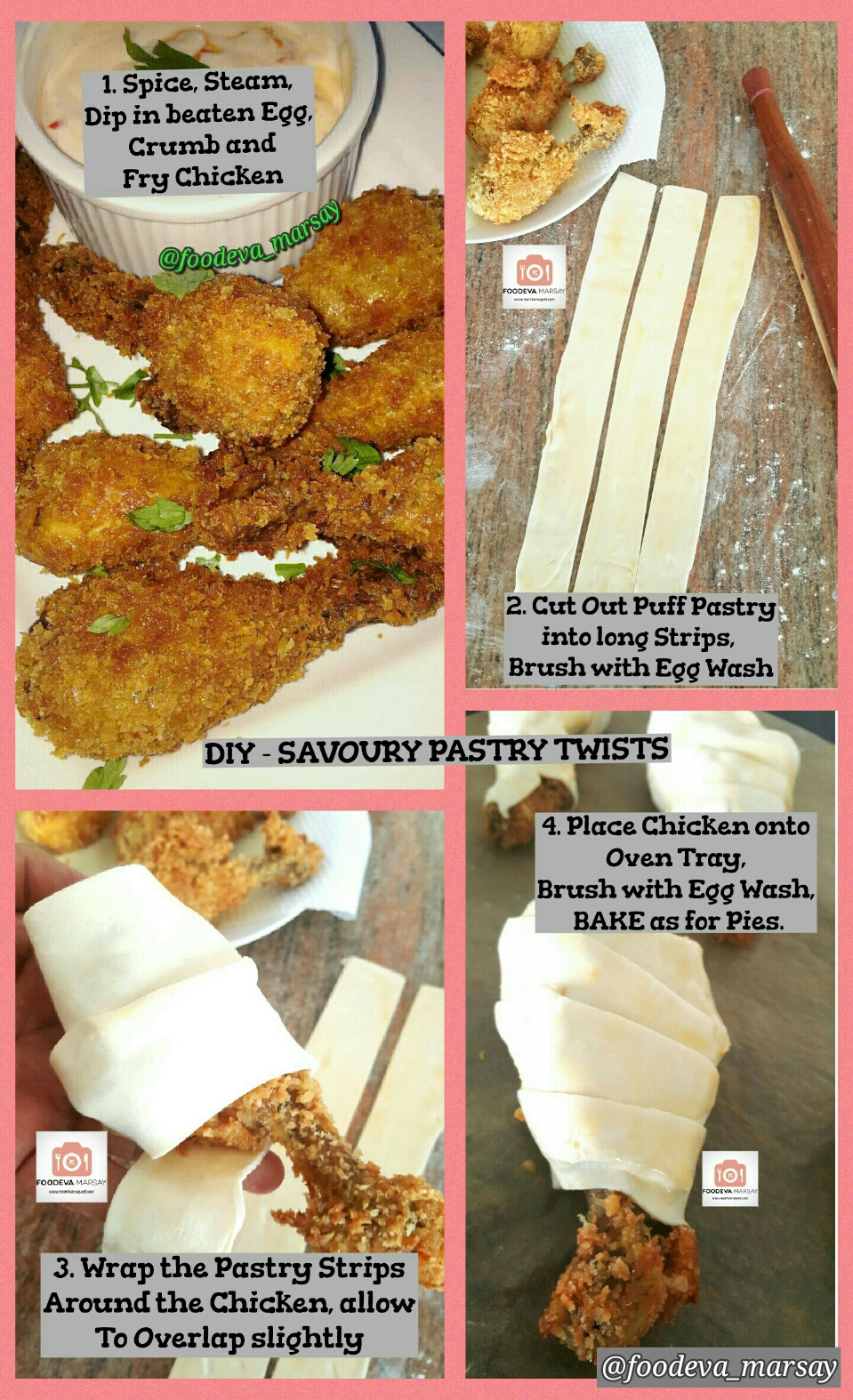 DIY GUIDE - SAVOURY PASTRY TWISTS