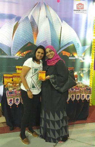 Faranah Osman and I at the Rayyan Cuisine exhibit.