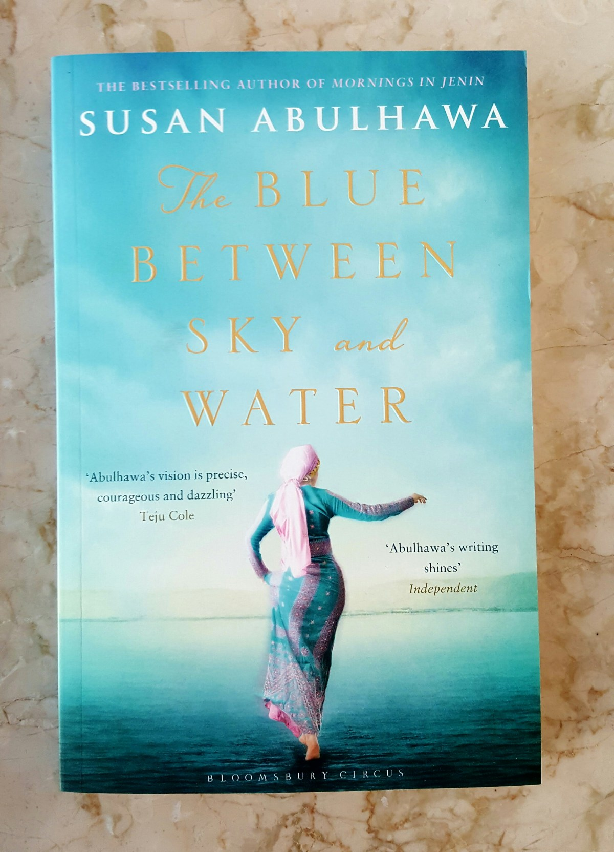 "Soothing Colours of Blue on the book cover?... ""The Blue Between Sky and Water"""