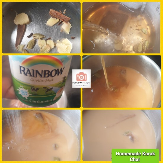 Step by Step Collage on how to Make Homemade Karak Chai
