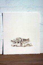 Paul White Choc top rest stop, 2013 pencil on arches paper SOLD