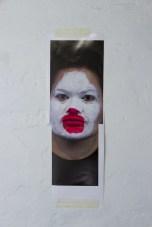 Salote Tawale Portrait #37 test, 2014 . Inkjet print, tape, glue 249w x 769h mm
