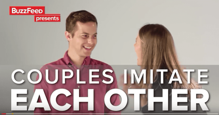 couples imitate each other - married and naked