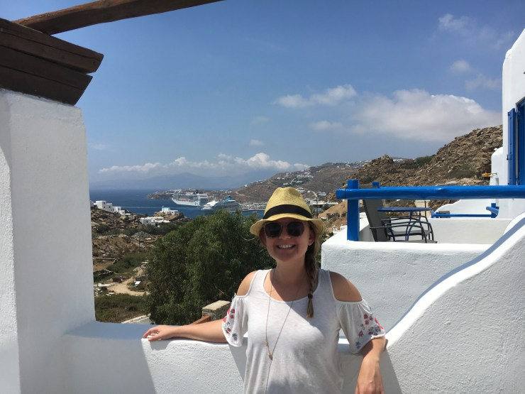 Travel Mistakes, Kara in Mikonos, Mykonos, Greece.
