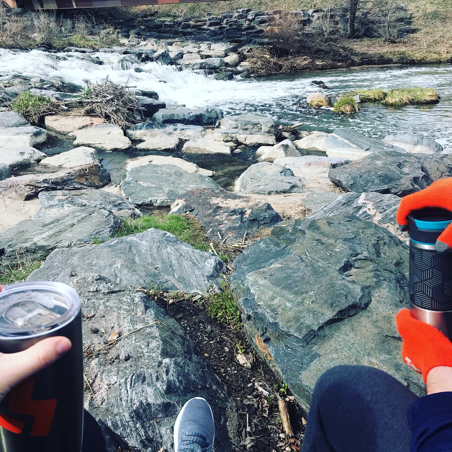 Coffee and Cherry Creek in Denver