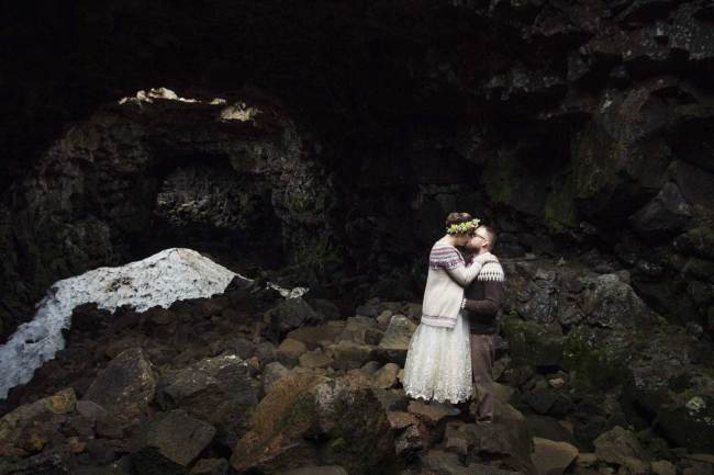 Married in cave in Iceland