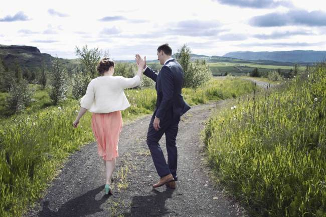 High five for our wedding day in Iceland