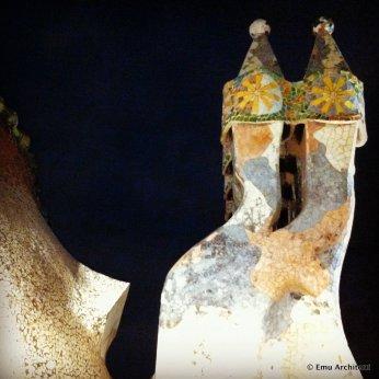 Casa Batllo' by Gaudi, rooftop