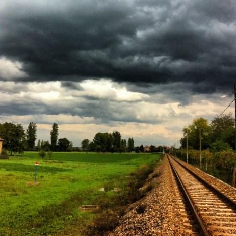 rail line from Cavriago to Reggio