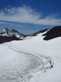 7,800-foot Carver Lake takes it's time to thaw this summer.