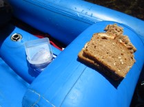 Our friend John didn't realize that the little tote he had for his sandwich wouldn't keep things dry. Oh John...
