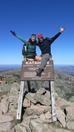 Rookie and Mary, Summit of Mount Katahdin, October 11, 2016.