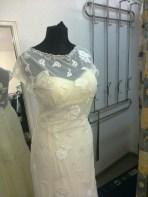 Brautkleid mit Spitzenapplikationen