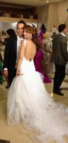 Brautkleid aus Tüll und Spitze