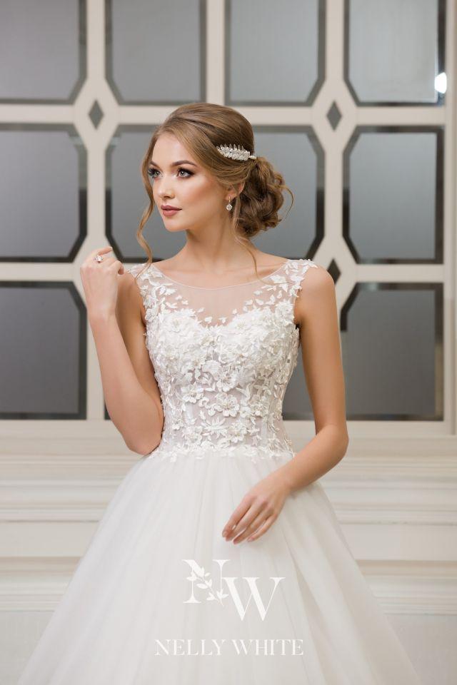 Brautkleid Handarbeit Spitze, Prinzessin